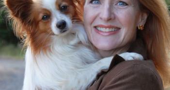 Shawna Schuh, President, Women In The Pet Industry Network & her dog Stewart.