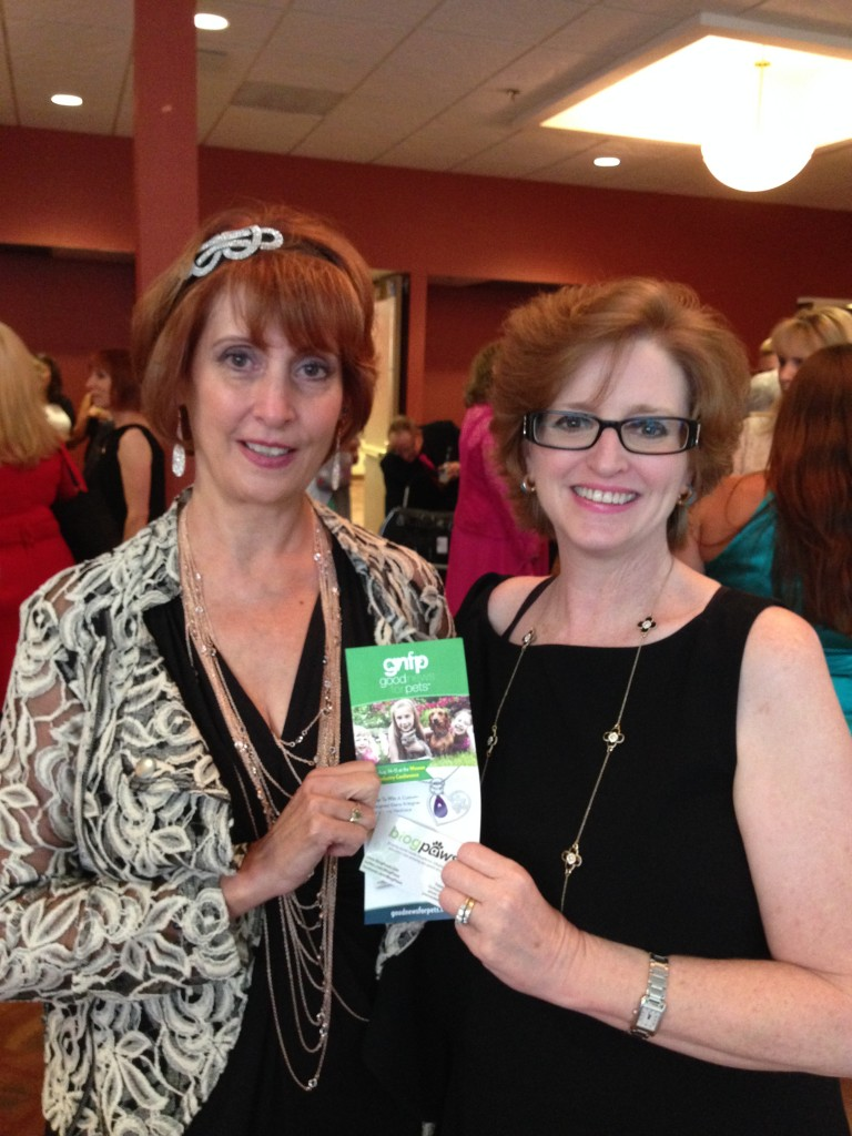 Yvonne DiVita Winner of the Heart-Paw Necklace with Publisher Lea-Ann Germinder