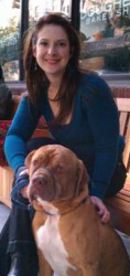 E'Lise Christensen, DVM, DACVB and her dog, Dewey. www.behaviorvets.com (Colorado) www.nycvetbehavior.com (New York City)