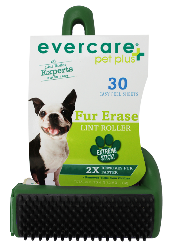 evercare pet plus fur erase lint roller