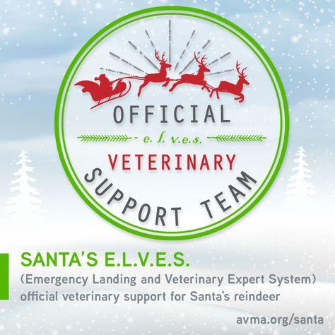 avma santa reindeer veterinarian elves e.l.v.e.s