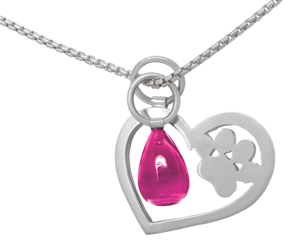 heart paw necklace goodnewsforpets february love