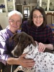 Dan Richardson, his wife Kathy Richardson and their Springer Spaniel.