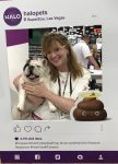 Lea-Ann Germinder with Mannie the French at Halo Pets