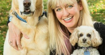 Jen Reeder with Rescue Dogs Rio and Peach