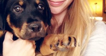 Megan Peters with a puppy