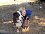 Nikolas Anthony Klimenko with his dog Atlas