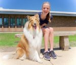 Daly Dodsworth with her dog Sophie