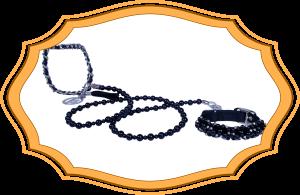 VP Black Pearl Leash and Collar