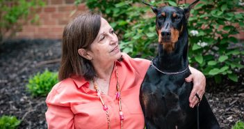 Linda and her Doberman Keela