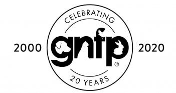 Goodnewsforpets Black Anniversary Logo