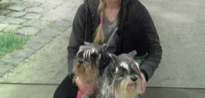 Sandy Weinstein and her dogs