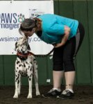 Junior Gets A Kiss from Handler/Owner Dawn Eliot Johnson